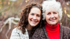 A major life transiton for women includes becoming caretaker to aging parents.